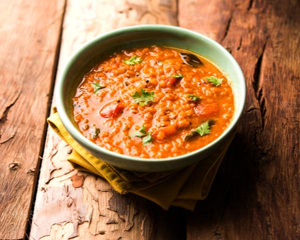RL-Red Lentil Cooked Dal served in a bowl